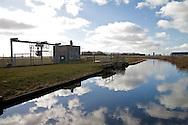 Lemsterrijn nabij gemaal Polder Oosterzee - langs de A6, afslag N 924