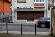 A small closed grocery store in the old part of Stierstadt which belongs to the city of Oberursel.