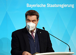 06.01.2021, Prinz-Carl-Palais, München, GER, Coronavirus Pandemie, Deutschland, Pressekonferenz der Minister in Bayern zur Verschärfung der Corona Einschränkungen, im Bild Ministerpräsident Dr. Markus Söder // during a press conference to tighten the Corona restrictions at the Prinz-Carl-Palais in München, Germany on 2021/01/06. EXPA Pictures © 2020, PhotoCredit: EXPA/ SM<br /> <br /> *****ATTENTION - OUT of GER*****