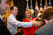 Wisconsin Governor and potential Republican presidential candidate Scott Walker greets supporters during a GOP lunch event March 20, 2015 in Charleston, South Carolina.