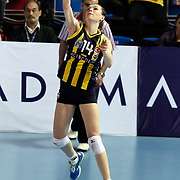 Fenerbahce Acibadem's Eda ERDEM during their Women's Volleyball CEV Champions League semi final match at Burhan Felek Arena in Istanbul, Turkey on 20 March 2011. Photo by TURKPIX