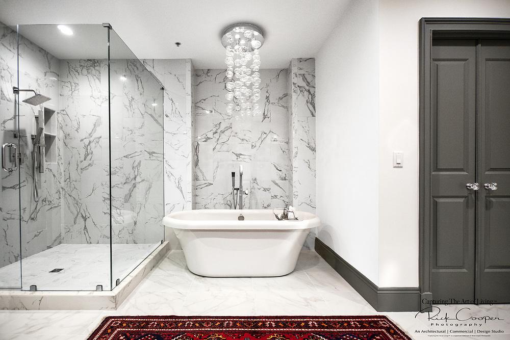 View of an elegant master bath