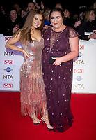 Maisie Smith and Clair Norris at the 25th National Television Awards,O2, London, UK 28 Jan 2020  photos by Brian Jordan