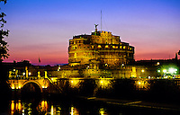 Castel Sant' Angelo at twilight, Rome, Italy