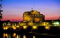 Castel Sant' Angelo at twilight, Rome, Italy