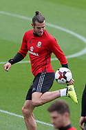 Gareth Bale of Wales during the Wales football team training at the Vale Resort in Hensol, near Cardiff , South Wales on Tuesday 29th August 2017.  the team are preparing for their FIFA World Cup qualifier home to Austria this weekend.  pic by Andrew Orchard, Andrew Orchard sports photography