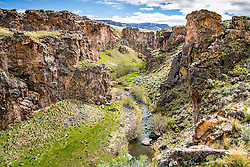 Succor Creek of the Owyhee Country looking south.   The Owyhee Country is in Eastern Oregon.