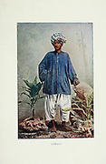 Cabuli a native of Cabul [Kabul], Afghanistan Typical Pictures of Indian Natives Being reproduction from Specially prepared hand-colored photographs. By F. M. Coleman (Times of India) Seventh Edition Bombay 1902