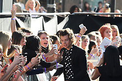 © Licensed to London News Pictures. 20/08/2013, UK. Harry Styles, One Direction: This Is Us - World film premiere, Leicester Square, London UK, 20 August 2013<br />  Photo credit : Richard Goldschmidt/Piqtured/LNP