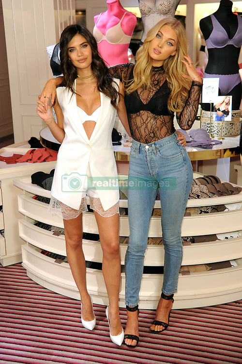 July 18, 2017 - New York, New York, U.S. - Victoria's Secret Angels SARA SAMPAIO and ELSA HOSK show off the T-Shirt Bra Collection at the Victoria's Secret 5th Avenue Store in New York City. (Credit Image: © Kristin Callahan/Ace Pictures via ZUMA Press)