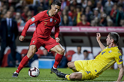 March 22, 2019 - Na - Lisbon, 03/22/2019 - The Portuguese Football Team received this afternoon their Ukrainian counterpart at the Estádio da Luz in Lisbon, in the Group B game, in the qualifying round for the 2020 European Championship. Cristiano Ronaldo; Sergii Kryvtsov  (Credit Image: © Atlantico Press via ZUMA Wire)