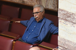 June 9, 2017 - Athens, attica, Greece - Kostas Gavroglou, Minister of Education during discussion in the hellenic parliament on a draft law for austerity measures, in Athens on June 9, 2017. (Credit Image: © Wassilios Aswestopoulos/NurPhoto via ZUMA Press)