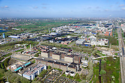Nederland, Noord-Holland, Amsterdam, 09-04-2014;  Holendrecht, Academisch Medisch Centrum AMC in Amsterdam Zuidoost. Universiteitsziekenhuis en poliklinieken, faculteit geneeskunde. Rechts de metro en staion Holendrecht.<br /> AMC Academic Medical Center in Amsterdam; university hospital and outpatient clinics, faculty of medicine.<br /> luchtfoto (toeslag op standard tarieven);<br /> aerial photo (additional fee required);<br /> copyright foto/photo Siebe Swart.