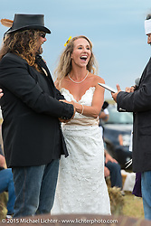 Heather and Chris Callen's Wedding at the Broken Spoke Camground during the 75th Annual Sturgis Black Hills Motorcycle Rally.  SD, USA.  August 8, 2015.  Photography ©2015 Michael Lichter.