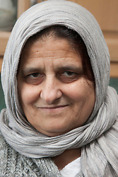 Portrait of South Asian woman.