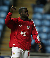 Photo: Rich Eaton.<br /> <br /> Coventry City v Bristol City. The FA Cup. 16/01/2007. Enoch Showunmi of Bristol celebrates his second half goal to make the score 2-0 to Bristol