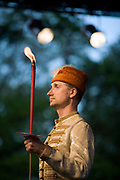 A man in traditional Hungarian folk costume performs at a cultural festival in Pec, Hungary.Pecs has been chosen as the 2010 European City of Culture. The city is on the southern slopes of the Mecsek Hills and has a sub-Mediterranean climate. Settled by Romans as Sopianae, it was a significant Christian settlement. Later conquered by the Ottomans, it has important Turkish architecture.