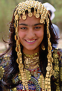 Girl wearing a traditional headdress, Kuwait