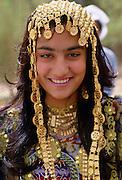 Girl wearing a traditional headdress, Kuwait