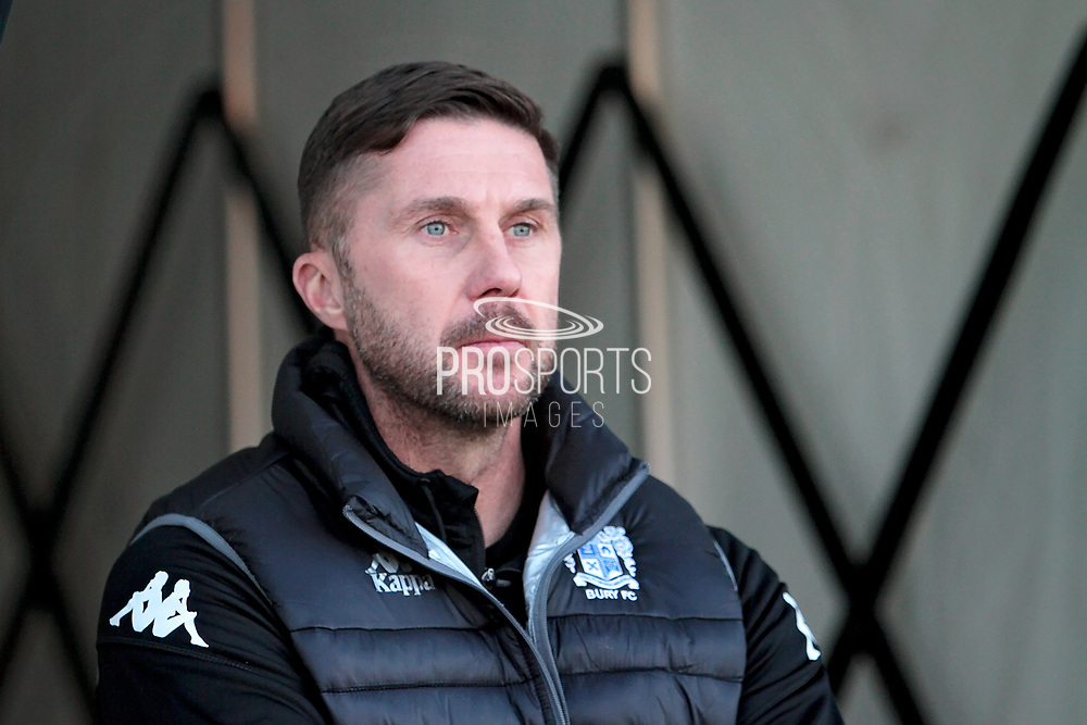 Bury manager Chris Lucketti before the EFL Sky Bet League 1 match between Northampton Town and Bury at Sixfields Stadium, Northampton, England on 25 November 2017. Photo by Nigel Cole.