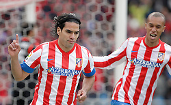 27.04.2013, Estadio Vicente Calderon, Madrid, ESP, Primera Division, Atletico Madrid vs Real Madrid, 33. Runde, im Bild Atletico de Madrid's Radamel Falcao celebrates // during the Spanish Primera Division 33th round match between Club Atletico de Madrid and Real Madrid CF at the Estadio Vicente Calderon, Madrid, Spain on 2013/04/27. EXPA Pictures © 2013, PhotoCredit: EXPA/ Alterphotos/ Alvaro Hernandez..***** ATTENTION - OUT OF ESP and SUI *****