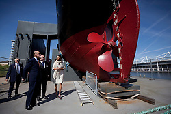 © Licensed to London News Pictures. 05/06/2013. London, UK. Prince Philip, Duke of Edinburgh visits the SS Robin steamship, a ship in which he was instrumental in saving, at the Royal Victoria Dock in East London today (05/06/2013). The royal visit marks the the beginning of the last round of renovation work to the lottery supported SS Robin which is the world's oldest steamship and last of her kind. Photo credit: Matt Cetti-Roberts/LNP