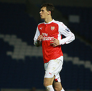 Arsenal midfielder Krystian Bielik during the Barclays U21 Premier League match between Brighton U21 and Arsenal U21 at the American Express Community Stadium, Brighton and Hove, England on 30 November 2015. Photo by Bennett Dean.