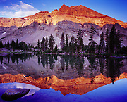 Amethyst Lake reflections, Amethyst Basin, High Uinta Wilderness, Uinta Mountains, Wasatch-Cache National Forest, Utah.