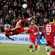 Medicana Sivassspor's  Ibrahim Ozturk (L) during their Turkish soccer super league match Medicana Sivasspor between Fenerbahce at 4 Eylul Stadium in Sivas Turkey on Saturday, 09 May 2015. Photo by Aykut AKICI/TURKPIX