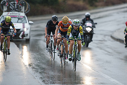 Katrin Garfoot (Orica Scott) leads the front group on the road back to Siena at Strade Bianche - Elite Women. A 127 km road race on March 4th 2017, starting and finishing in Siena, Italy. (Photo by Sean Robinson/Velofocus)
