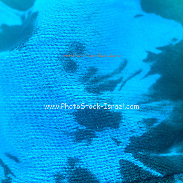 Abstract ink blobs in black and blue