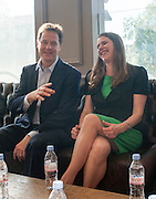 ***EMBARGO UNTIL 0001 FRIDAY 18th JULY 2014***© Licensed to London News Pictures. 16/07/2014. London, UK. NICK CLEGG and JO SWINSON.  Deputy Prime Minister and Leader of the Liberal Democrats Nick Clegg visits Tesco in Kensington to meet staff along with Jo Swinson. The Liberal Democrats will say in their 2015 manifesto that they will require large companies to publish the average salary of their male and female employees, increasing public pressure for equal pay. Tesco are one of the companies that currently publish this information voluntarily under the Government's Think, Act, Report scheme.. Photo credit : Stephen Simpson/LNP