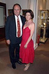 Actor CHRISTOPHER CAZENOVE and ISABEL DAVIS at the Sotheby's Summer Party 2007 at their showrooms in New Bond Street, London on 4th June 2007.<br /><br />NON EXCLUSIVE - WORLD RIGHTS