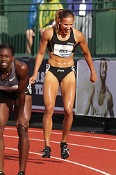 Olympic Trials Eugene 2012: women's 100 meter hurdles, Lolo Jones reacts to making Olympic team
