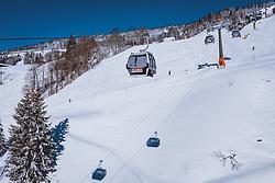 THEMENBILD - Gondel der Schönleiten Seilbahn, aufgenommen am 16. Januar 2021 in Saalbach Hinterglemm, Österreich // Gondola of the Schoenleiten cable car, Saalbach Hinterglemm, Austria on 2021/01/16. EXPA Pictures © 2021, PhotoCredit: EXPA/ JFK
