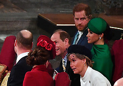 The Duke and Duchess of Sussex (right) sit with the Earl and Countess of Wessex and the Duke and Duchess of Cambridge, during the Commonwealth Service at Westminster Abbey, London on Commonwealth Day. The service is the Duke and Duchess of Sussex's final official engagement before they quit royal life.