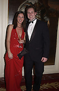 Vicky Hallan-Peel and Ashley de Grey Osborn. Bulgari/NSPCC Snow Ball, Mandarin Oriental. 11 December 2002. © Copyright Photograph by Dafydd Jones 66 Stockwell Park Rd. London SW9 0DA Tel 020 7733 0108 www.dafjones.com