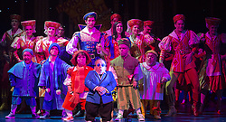 © Licensed to London News Pictures. 06/12/2012. London, England. The cast of Snow White and the Seven Dwarfs at New Wimbledon Theatre, Wimbledon including Darius Ashard (bottom second left). Darius Ashard has today (10/09/2013) been fined for  hurling abuse at police after he was thrown out of a nightclub for taking drugs, a court heard Photo credit: Bettina Strenske/LNP