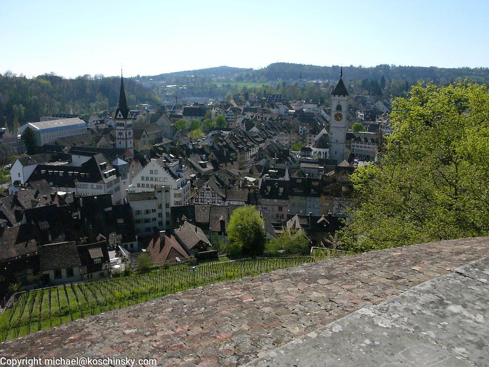 View from the Munot, Schaffhausen, Switzerland