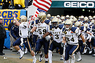 6 Dec 2008: The Naval academy football team enters the field before the Army / Navy game December 6th, 2008. At Lincoln Financial Field in Philadelphia, Pennsylvania.