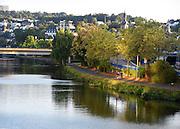 The Rhine river in Saarbrucken, Saarland, Germany