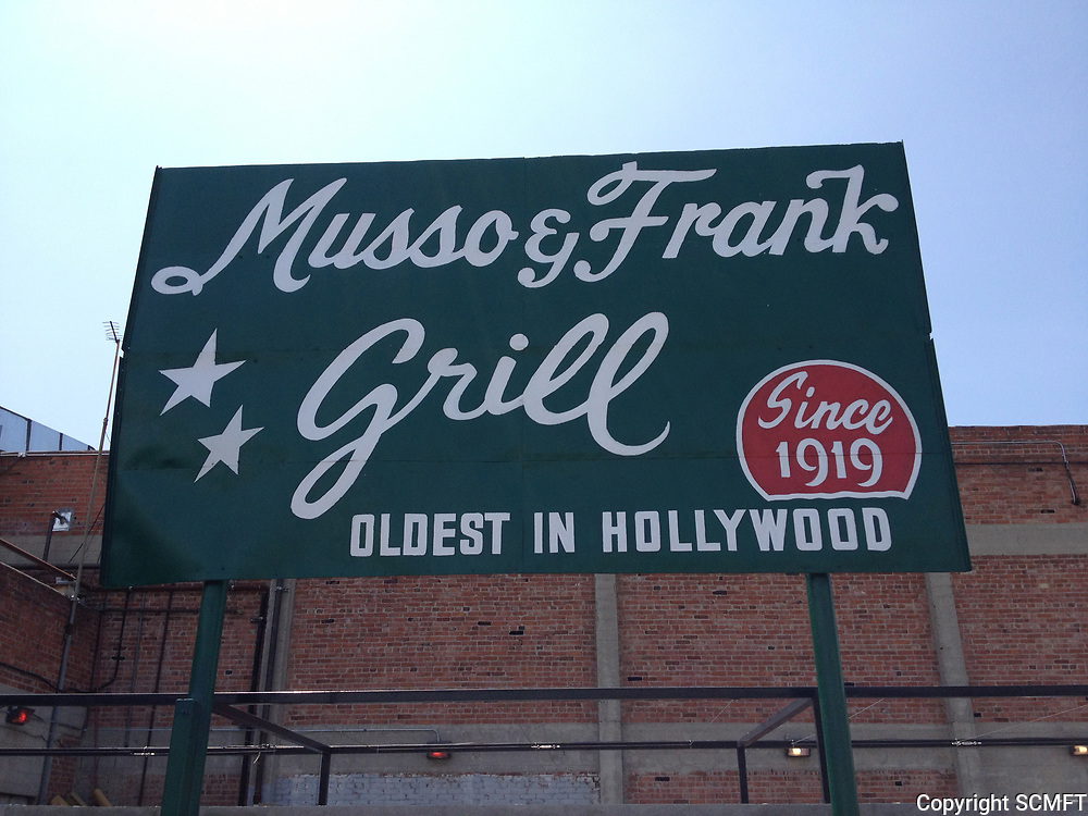 2013 Musso & Frank Grill signage