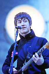 Alex Turner of the Artic Monkeys, play the main stage on the Friday night  at T in the Park 6th July, 2007, at Balado, Fife...