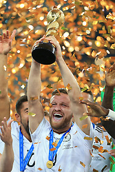 2nd July 2017 - FIFA Confederations Cup Final - Chile v Germany - Shkodran Mustafi of Germany lifts the trophy - Photo: Simon Stacpoole / Offside.