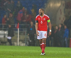 CARDIFF, WALES - Thursday, March 24, 2016: Wales' captain Ashley Williams after the 1-1 draw against Northern Ireland during the International Friendly match at the Cardiff City Stadium. (Pic by Paul Greenwood/Propaganda)