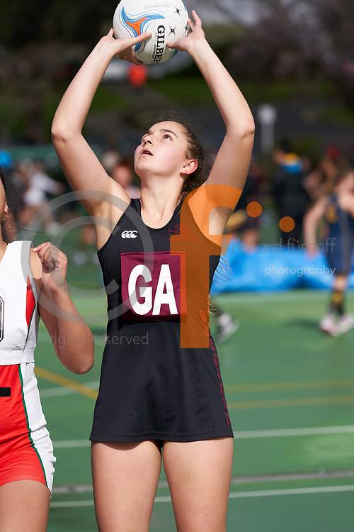 2018 NZSS Girls Netball Tournament.<br /> Vautier Park Netball Centre, Palmerston North.<br /> Woodford House