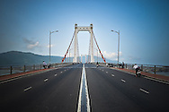 View of Thuan Phuoc bridge from the middle of the road, Danang, Vietnam, Asia