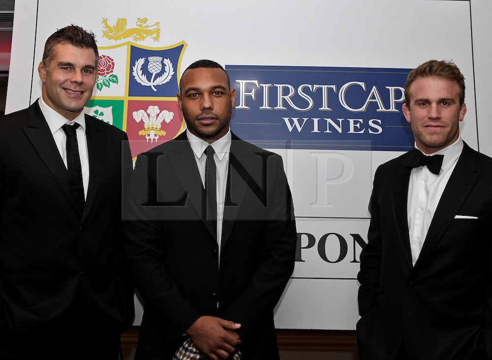 © Licensed to London News Pictures. 31/10/2012. London, U.K. .harlequins rugby players Jordan Turner-hall (c ) , Nick Easter (left) and Will Skinner ( right)  joined the star studded line-up for the Ugo Monye Halloween Ball supported by FIRSTCAPE WINE at Grovesnor House Hotel, Park Lane, London this evening (31/10/2012). An auction was held to raise money for Ugo Monye's selected charities: Help a capital child and The Rugby players benevolent fund..Photo credit : Rich Bowen/LNP