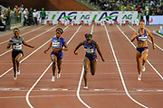 Dina Asher-Smith (Great Britain) winning the Women's 200 metres, Marie-Josee Ta Lou (Ivory Coast), Shelly Fraser-Pryce (USA), Dafne Schippers (Netherlands), during the IAAF Diamond League event at the King Baudouin Stadium, Brussels, Belgium on 6 September 2019.