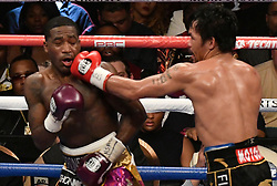 Jan 19,2019. Las Vegas NV.( in blk trunks)  Manny Pacquiao goes 12 rounds with Adrien Broner at the MGM grand Hotel Saturday. Manny Pacquiao  took the win by unanimous decision for the World Welterweight Championship..Photo by Gene Blevins/ZumaPress. (Credit Image: © Gene Blevins/ZUMA Wire)